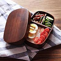 Ланч-бокс деревянный, ручной работы