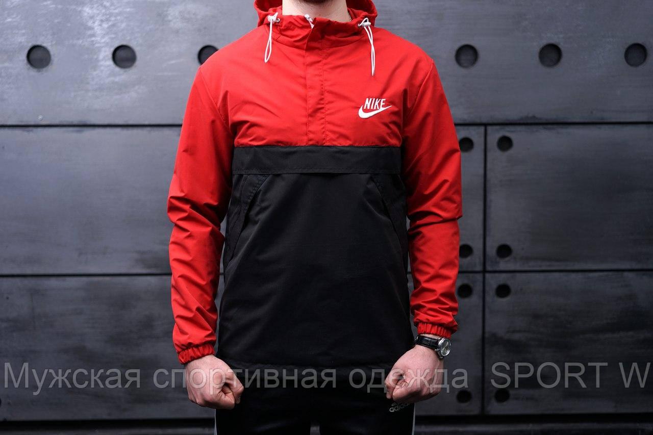 94a6a4c7 Весенняя ветровка Nike. Мужской Анорак красно-черный., цена 479 грн.,  купить в Запорожье — Prom.ua (ID#527579814)