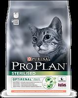 Pro Plan Sterilised Salmon корм для стерилизованных кошек с лососем, 400 г, фото 1