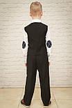 Классический костюм для мальчика.черный цвет 116-140см, фото 5