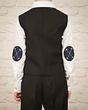 Классический костюм для мальчика.черный цвет 116-140см, фото 6