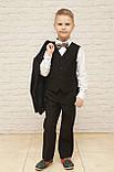 Классический костюм для мальчика.черный цвет 116-140см, фото 2