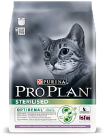 Pro Plan Sterilised Turkey корм для стерилизованных кошек с индейкой, 1.5 кг