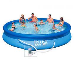 Семейный надувной бассейн Intex Easy Set Pool 457х84 см (28158)