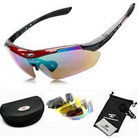 Спортивні сонцезахисні окуляри велоокуляри 5 пар лінз Robesbon, фото 1