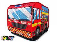 Детская палатка пожарна машина