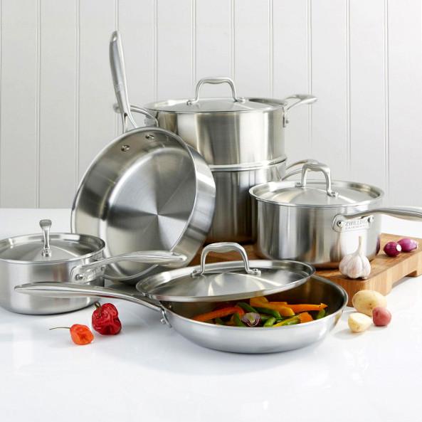 Наборы посуды, кастрюли, ковши