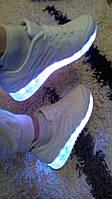 Летние кроссовки светящиеся подсветка LED сетка