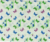 Пеленка ситец 95х110 см РУНО (204.03_бабочки)