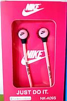 Вакуумные наушники Nike - Just Do It  ярко розовые