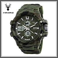 Военные часы Skmei 0990 с Водонепроницаемостью 50 м., фото 1