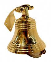 Колокольчик Рында желтый метал Индия  8,2х8,2х8 см