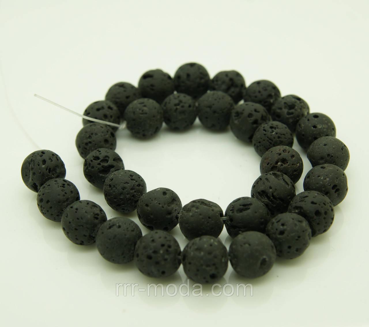 1125 Натуральный лавовый камень на браслеты, подвески, бусы.