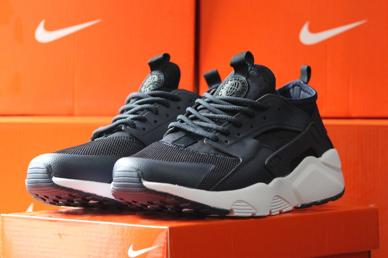 Кроссовки Nike Air Huarache летние,сетка темно синие