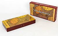 Настольная игра нарды Карта Backgamon 5898: дерево, размер доски 48х48см