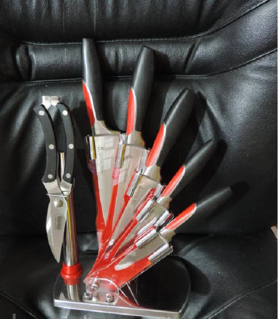 """Кухонные швейцарские ножи с подставкой, набор """"Swiss Zurich"""" - 7 предметов."""