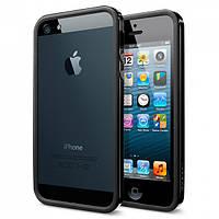 Бампер для SGP iPhone 5/5S пластик SGP Case Neo Hybrid EX Slim Vivid Series Soul Black