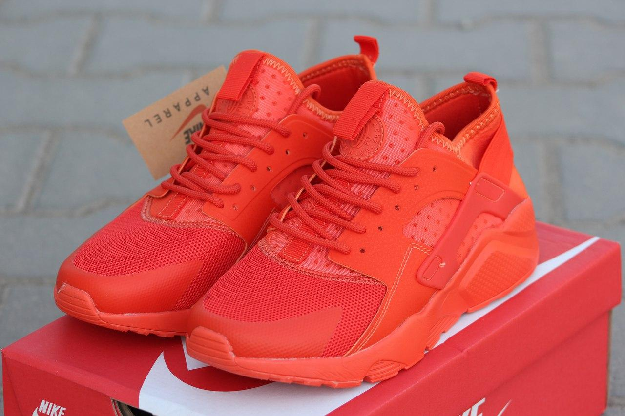 Кроссовки Nike Air Huarache летние,сетка  оранжевые 45р