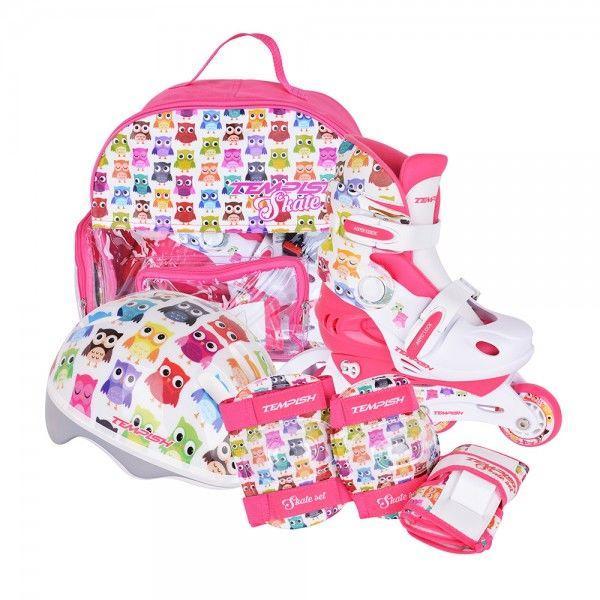 Детские раздвижные роликовые коньки Tempish Owl Baby skate (комплект), (размеры 26-29, 30-33, 34-37)