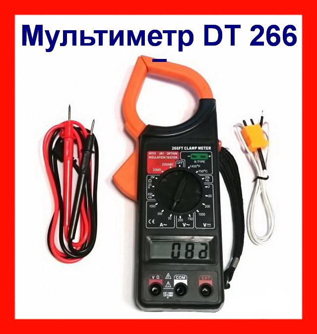 Токоизмерительные клещи мультиметр DT 266 F