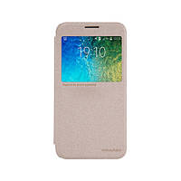 Чохол-книжка для Nillkin Samsung E500 Galaxy E5 Sparkle Series Gold