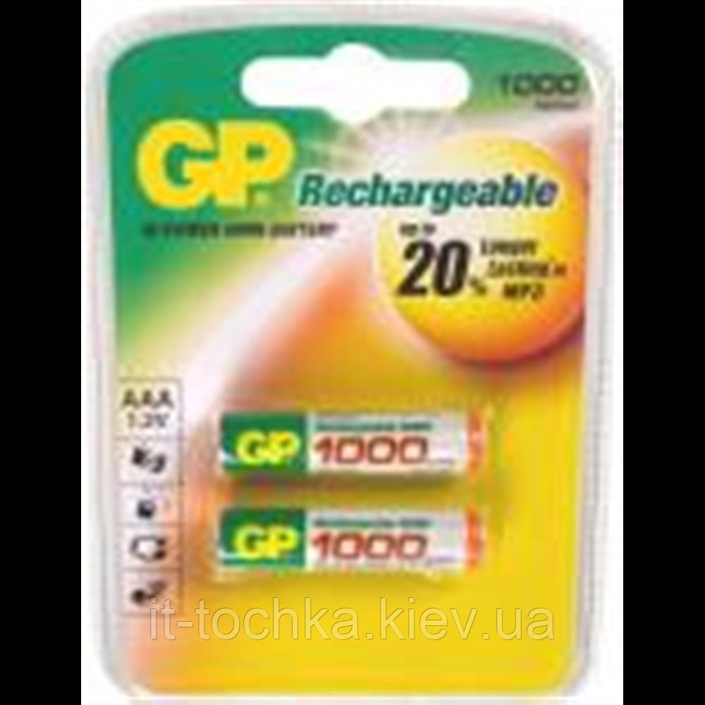 Аккумулятор gp r-03 2 штуки в упаковке 1000 mah ni-mh (gp r03/1000)