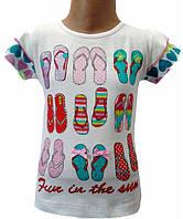 Летняя красивая футболка на девочку