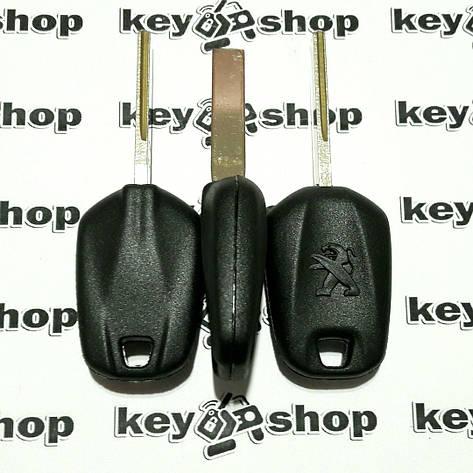 Корпус автоключа под чип Peugeot (Пежо) лезвие HU83T, фото 2