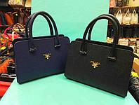 Красивая женская сумочка PRADA ажур,цвет черный,синий