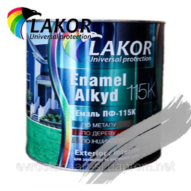 Эмаль Лакор ПФ-115 К алюминиевая 0,8 кг