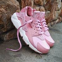 Кроссовки Nike Air Huarache Run Premium Pink Glaze Pearl. Живое фото. Топ качество! (аир хуарач, эир хуарач)