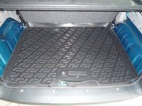 Резиновый коврик в багажник Renault Kangoo пассажир 98-08  Lada Locer (Локер)