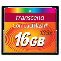 Карта пам'яті Compact Flash Transcend 133х 16 Gb Black