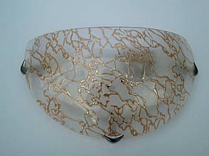 Светильник настенный накладной диаметр 30 см Золото-мрамор одно ламповый, фото 2