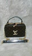 Модная сумка Louis Vuitton Луи Виттон на цепочке коричневая