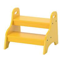 """IKEA """"ТРУГЕН"""" Табурет для ног, желтый"""