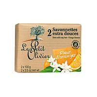 LE PETIT OLIVIER Экстра нежное мыло Цветы Апельсина 100% vegetal oils soap 200г
