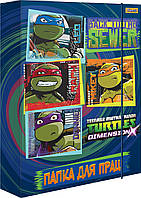 "491293 Папка для труда картоная А4 ""Ninja Turtles"""
