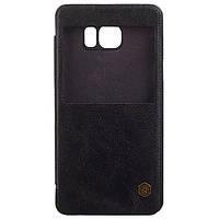 Чохол-книжка для Nillkin Samsung N920 Galaxy Note 5 шкірзам  Nillkin Qin Series Black