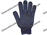 Перчатки нейлоновые микроточка синие