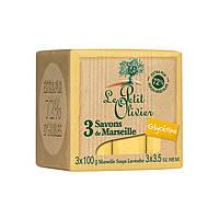 LE PETIT OLIVIER Марсельское мыло Глицерин 100% vegetal oils soap 300г
