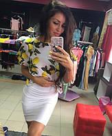 Костюм широкая футболка и юбка карандаш