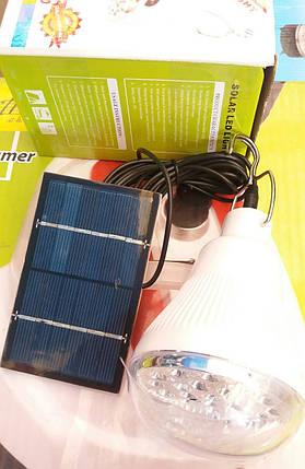 Светодиодная лампочка-фонарь LED + солнечная панель, фото 2