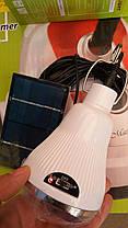 Светодиодная лампочка-фонарь LED + солнечная панель, фото 3