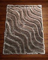 Ковер коричневый прямоугольный 3D шагги