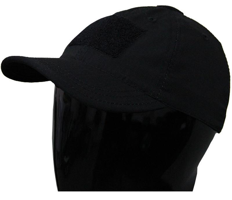 Чёрная тактическая бейсболка