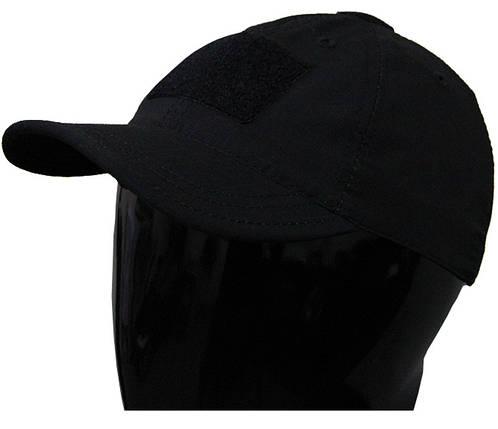 Чорна тактична бейсболка, фото 2
