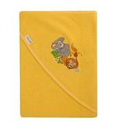 Детское полотенце с капюшоном Safari Tega Baby, желтое