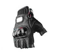 Вело-мото перчатки кожаные MCS-04H. Суперцена!