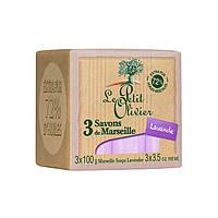 LE PETIT OLIVIER Марсельское мыло Лаванда 100% vegetal oils soap 300г